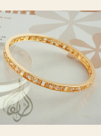 Gold-plated Bangle with CZ Stones [BGL-200]