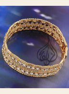 Gold-plated Bracelet with CZ Stones [BGL-300]