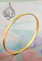 Gold-plated Everyday Bangle [BGL-500]