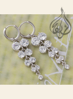 Rhodium-plated  Earring with CZ Stones [ERNG-200]