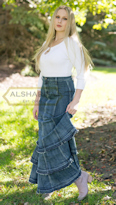 Mermaid Tiered Flared skirt, Very long skirts