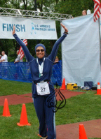 heba abbassi chicago triathlete in alsharifa Islamic swimsuit