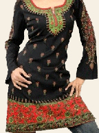 Princess Printed Tunic - Black